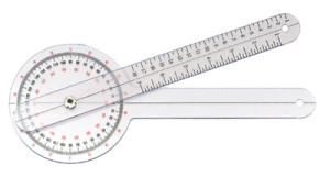 goniometer measures range of motion